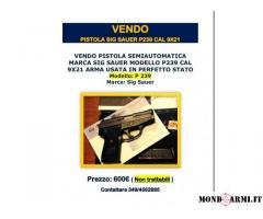 VENDO PISTOLA SIG SAUER P239 CAL 9X21