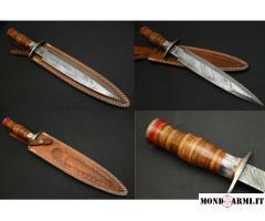 Coltello da caccia / collezione lama Damasco.