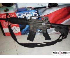 Fucile Softair LONESTAR M4 BORDER PATROL + batteria lipo&caricabatterie + regalo