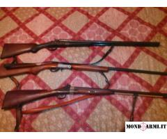 vendo tre fucili e fuciliera