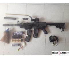 Carabine Softair - Vendo m4 per soft air full metal + red hot + altri accessori