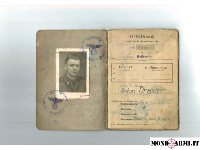 Vendo Soldbuch tedesco SS Divion Viking