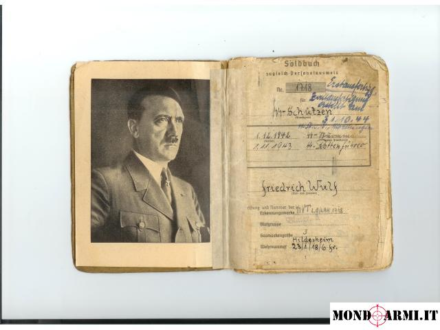 Vendo Soldbuch tedesco SS LSSAH