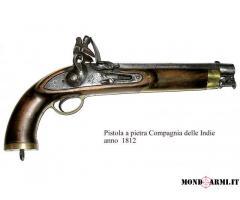 Pistola a pietra Compagnia delle Indie - originale