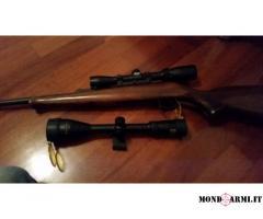 carabina cz 452 con due ottiche