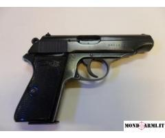 Pistola semiauto Marca Walther  cal. 7,65 Mod. PP (Polizei Pistole)