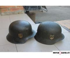 Vendo 2 x elmetto M40 Waffen SS origine