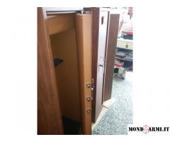 Armadio blindato porta fucili 12 posti effetto legno
