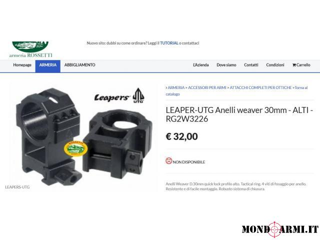 ATTACCHI QUICKLOCK WEAWER-PICATINNY UTG LEAPERS