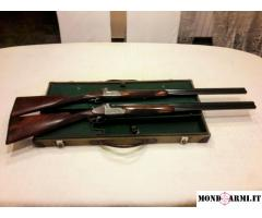 RARITA': anno 1939. Due fucili gemelli MERKEL O/U old Model 401E in valigetta originale