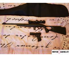 Walther PK380 + Carabina Mossberg 702