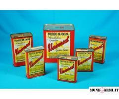 Collezione di 50 scatole in latta d'epoca/obsolete di Polveri da Caccia – Parte 1