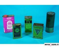 Collezione di 50 scatole in latta d'epoca/obsolete di Polveri da Caccia – Parte 2