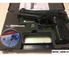 Pistola beretta 92fs co2 calibro 4,5 ottimizzata 7,5 joule libera vendita