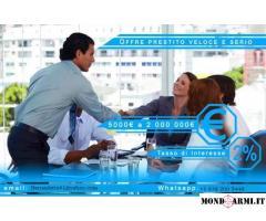 Offerta speciale Crediti veloci e affidabili tra individui in 48 ore