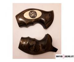 Guancette Smith Wesson originali in legno per telaio N ROUND BUTT.