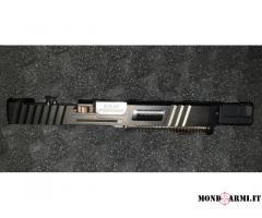 Carrello Glock 17 completo ci canna kkm , fresato per rmr